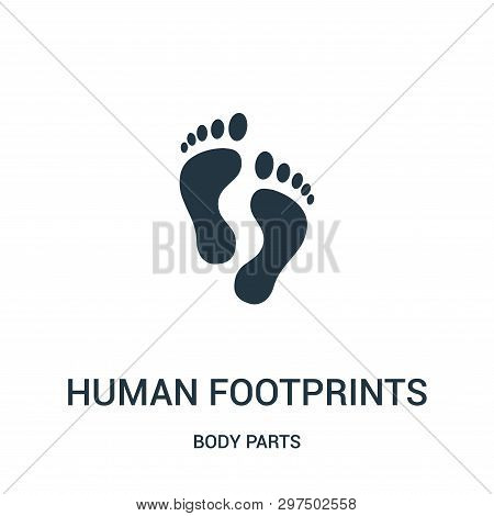 Human Footprints Icon Isolated On White Background From Body Parts Collection. Human Footprints Icon