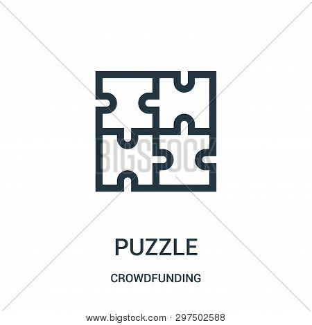 Puzzle Icon Isolated On White Background From Crowdfunding Collection. Puzzle Icon Trendy And Modern