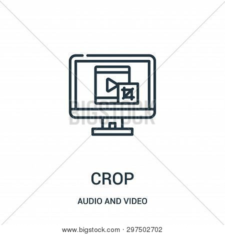 Crop Icon Isolated On White Background From Audio And Video Collection. Crop Icon Trendy And Modern