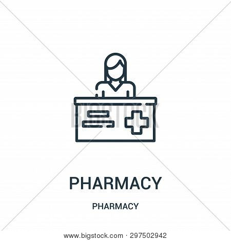 Pharmacy Icon Isolated On White Background From Pharmacy Collection. Pharmacy Icon Trendy And Modern