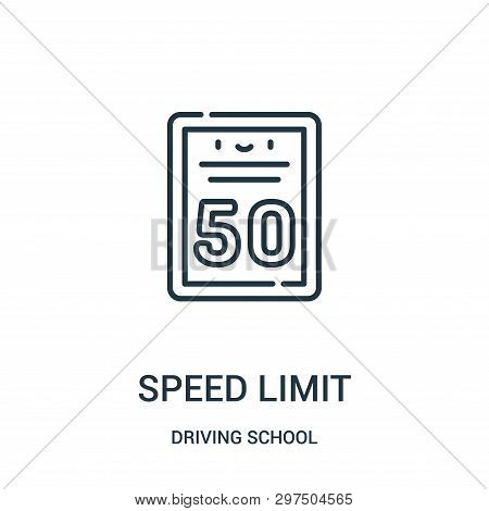 Speed Limit Icon Isolated On White Background From Driving School Collection. Speed Limit Icon Trend