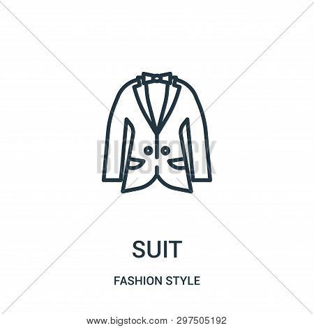 Suit Icon Isolated On White Background From Fashion Style Collection. Suit Icon Trendy And Modern Su