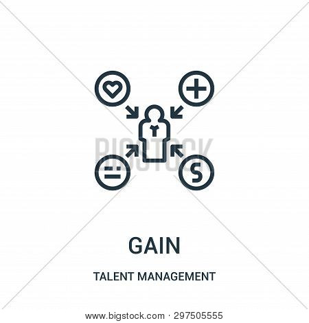 Gain Icon Isolated On White Background From Talent Management Collection. Gain Icon Trendy And Moder