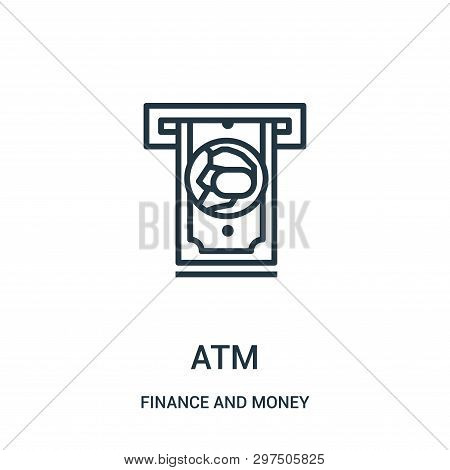 Atm Icon Isolated On White Background From Finance And Money Collection. Atm Icon Trendy And Modern