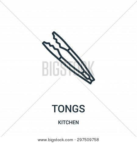 Tongs Icon Isolated On White Background From Kitchen Collection. Tongs Icon Trendy And Modern Tongs