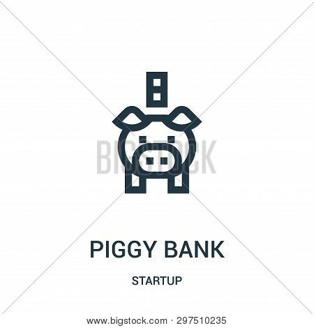 Piggy Bank Icon Isolated On White Background From Startup Collection. Piggy Bank Icon Trendy And Mod