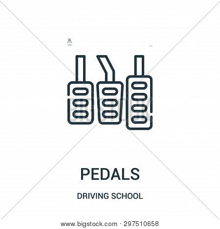 Pedals Icon Isolated On White Background From Driving School Collection. Pedals Icon Trendy And Mode