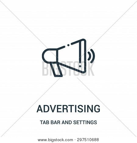 Advertising Icon Isolated On White Background From Tab Bar And Settings Collection. Advertising Icon