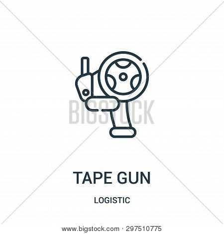 Tape Gun Icon Isolated On White Background From Logistic Collection. Tape Gun Icon Trendy And Modern