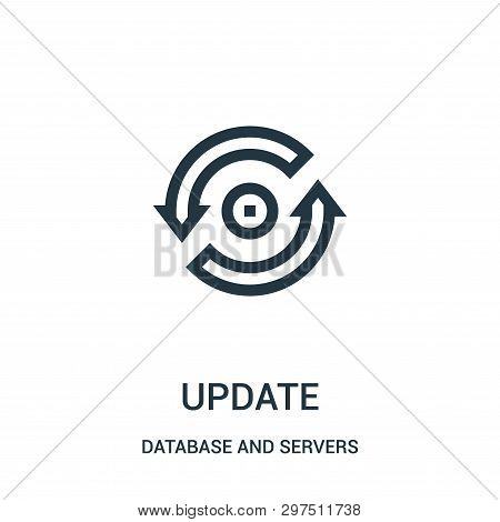 Update Icon Isolated On White Background From Database And Servers Collection. Update Icon Trendy An