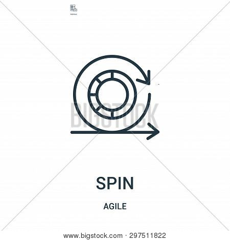 Spin Icon Isolated On White Background From Agile Collection. Spin Icon Trendy And Modern Spin Symbo