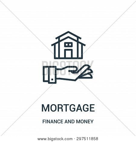 Mortgage Icon Isolated On White Background From Finance And Money Collection. Mortgage Icon Trendy A