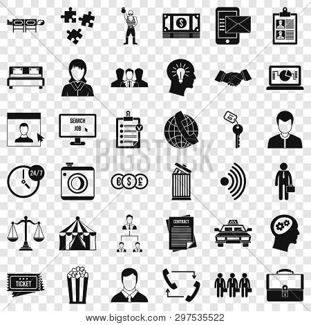 Conformity Icons Set. Simple Style Of 36 Conformity Vector Icons For Web For Any Design