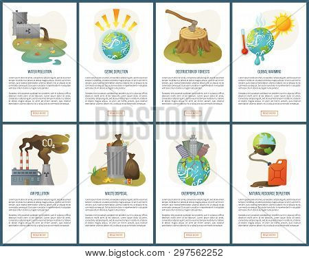 Destruction Of Forests Vector Deforestation And Global Warming Melting Planet Earth, Waste Disposal,