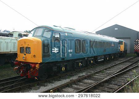 British Railways Diesel Locomotive Class 45 Number 45112 At Barrow Hill Depot Rail Power Event - Bar