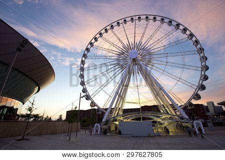 Wheel Of Liverpool On Keel Wharf, Liverpool, Merseyside, Uk Operated By Freij Wheels - 11th June 201