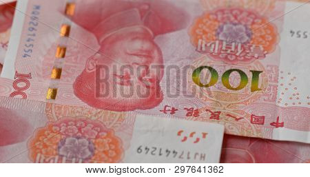 Stack of chinese RMB banknote