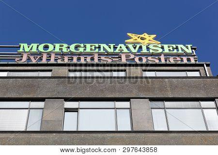 Copenhagen, Denmark - April 2, 2019: Jyllands Posten Building In Copenhagen. Jyllands Posten Commonl