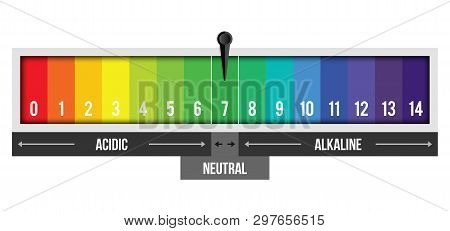 Creative Vector Illustration Of Ph Scale Value Isolated On Background. Chemical Art Design Infograph