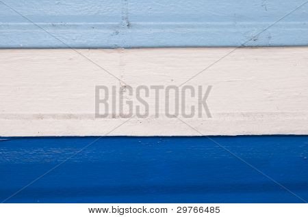 Shades Of Navy And, Sky Blue ,white Strip On Wood