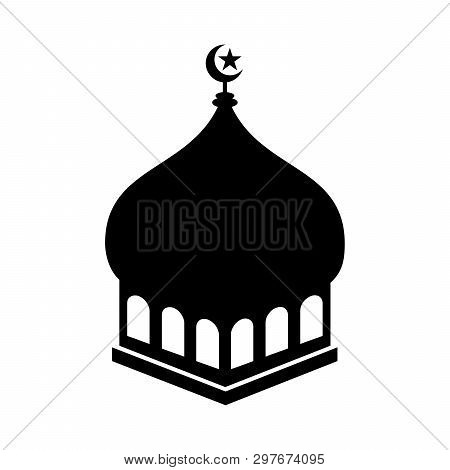 Mosque Icon Isolated On White Background, Mosque Icon Vector Image, Mosque Dome Icon Vector, Mosque