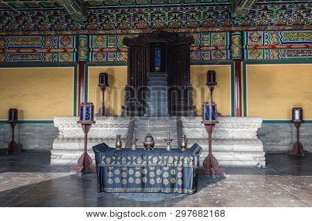 Altar In Imperial Hall Of Heaven In Temple Of Heaven In Beijing. Capital City Of China