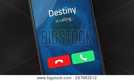 Incoming Call From Destiny On A Smartphone. 3d Illustration