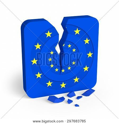European Union Copyright Law Is Breaking The Internet. 3d Illustration