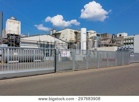Hedingen, Switzerland - April 19, 2019: The Site Of The Klk Kolb Company In Hedingen. Klk Kolb Manuf