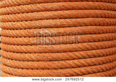 Spiral in hank packing twine The rope made of cotton is strong firmly tied. poster
