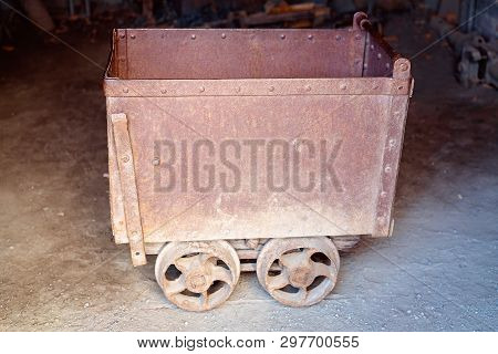 Old Disused And Abandoned Gold Mine Trolley Used To Cart Ore During The Gold Rush Days In Australia