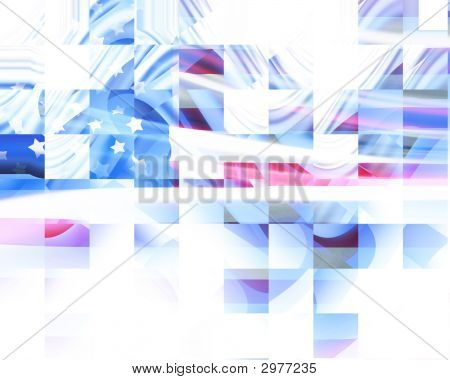 Abstract American Flag