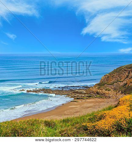 Beach Azkorri Or Gorrondatxe In Getxo Town, Biscay, Basque Country, Spain