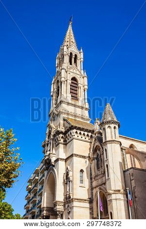 Holy Perpetua Church Or Eglise Sainte Perpetue In Nimes City In France