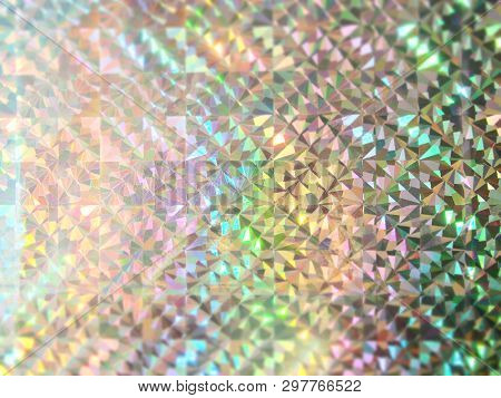 Holiday Bokeh Green Blue And Pink Lights Festive Background. Holographic Backdrop. Design For Your A