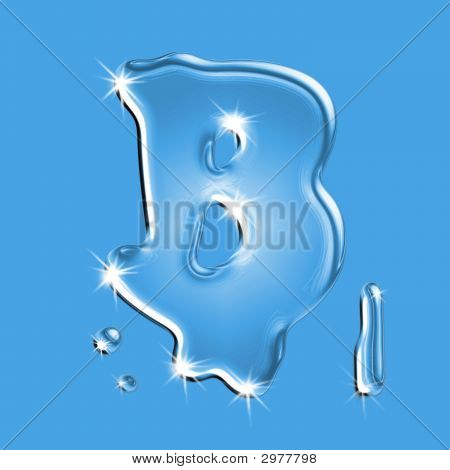 Water Letter B