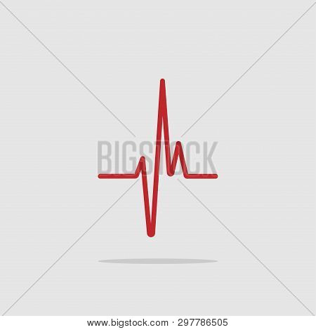 Heartbeat - Vector Icon Heartbeat Line. Heartbeat Icon For Medical Apps