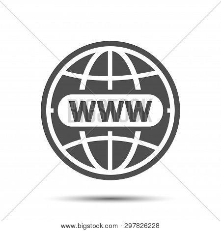 Www Icon, Website Icon World Globe, Www Flat Icon Go To Web Sign