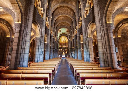 Monaco - September 26, 2018: Saint Nicholas Monaco Cathedral Or Cathedral Of Our Lady Immaculate Is