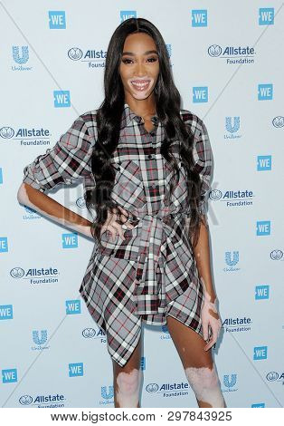 Winnie Harlow at the WE Day California 2019 held at the Forum in Inglewood, USA on April 25, 2019.