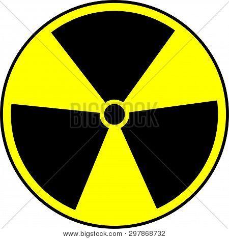 Radiation Symbol Vector Isolated On White Background