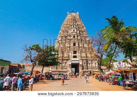 Hampi, India - February 16, 2012: Virupaksha Temple At Hampi, Was The Centre Of The Hindu Vijayanaga