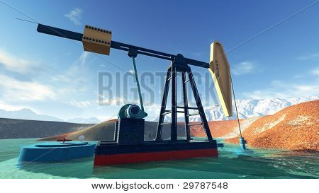 Oil pump in Alaska