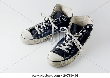 black color vintage sneakers