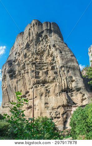 Rock Formation In Meteora, Greece