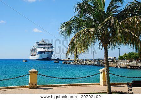 Docked Cruise Ship