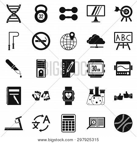 Cardio Workout Icons Set. Simple Set Of 25 Cardio Workout Icons For Web Isolated On White Background