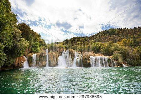 Krka, Sibenik, Croatia, Europe - Swimming Within The Cascades Of Krka National Park