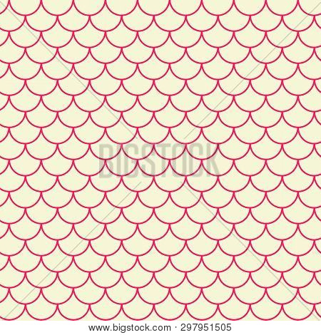 Little Mermaid Seamless Pattern. Fish Skin Texture. Tillable Background For Girl Fabric, Textile Des