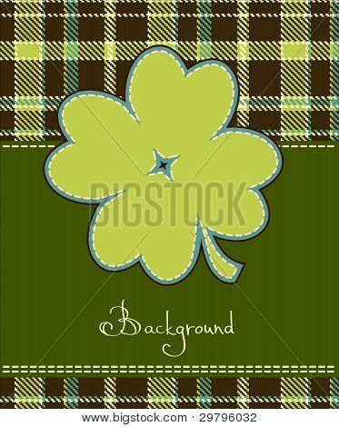 Four Leaf Clover Textile Label
